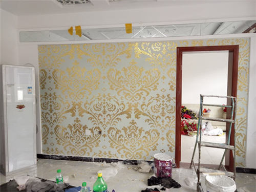 ZF-P08 gold and white crystal glass mosaic art patterns wall background decoration cheap price