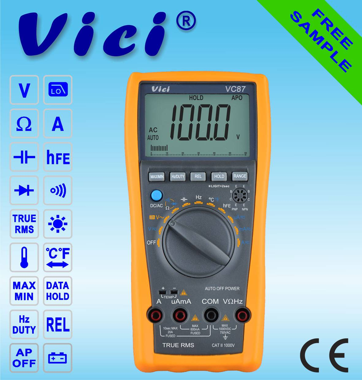 VC87 True RMS multimeter/ industrial multimeter  for motor drives