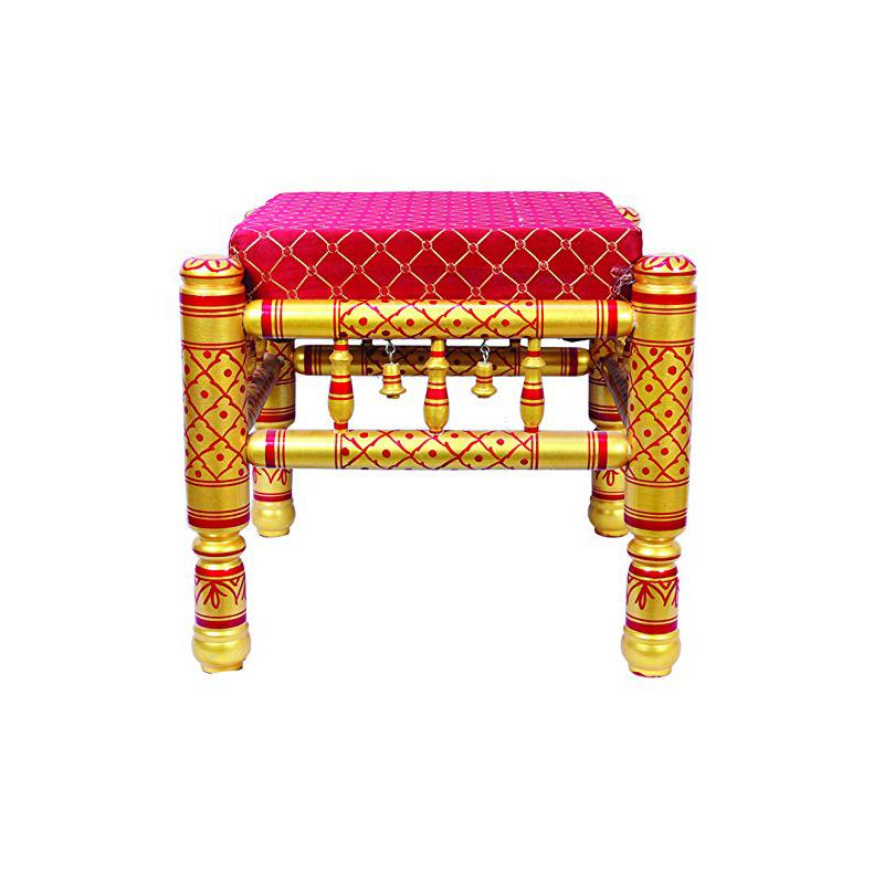 wooden sitting stool