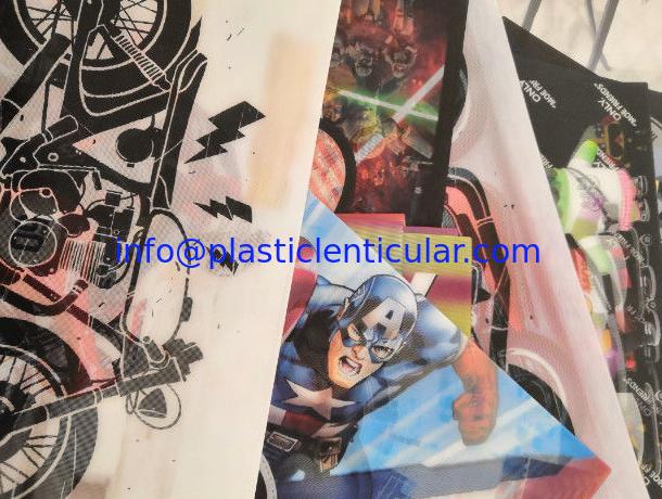 Custom printing soft TPU 3d lenticular flip fabrics for bag/suitcases/t-shirt/Luggage Cases