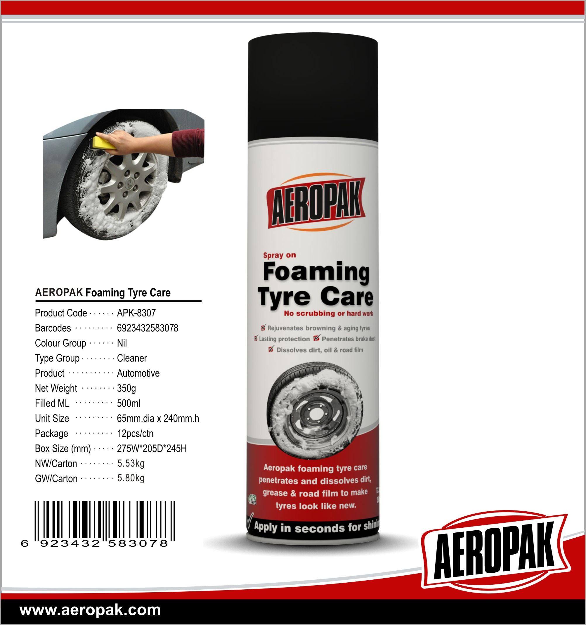 Aeropak Tyre equipment Radial tyre foaming care
