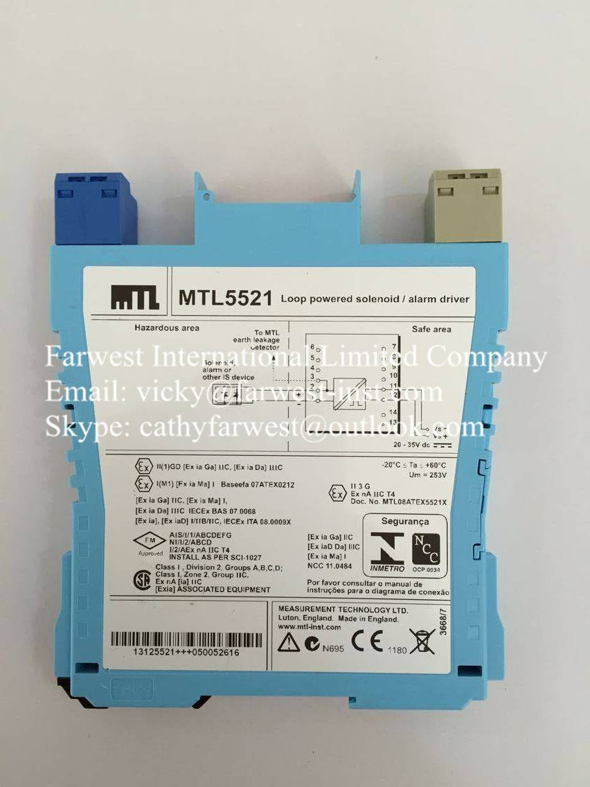 Intrinsically Safe Isolators MTL5522 a loop-powered module