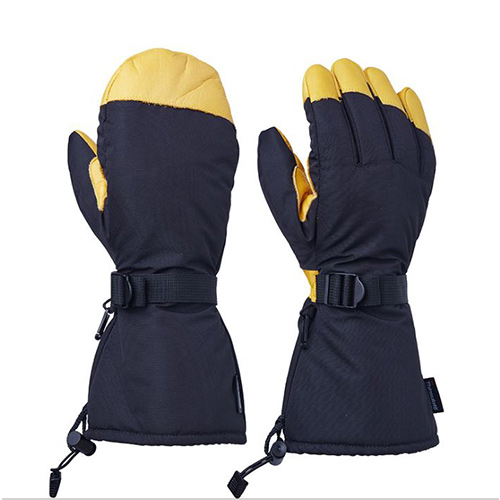 Winter Water resistance Cowhide Warm gloves (013)