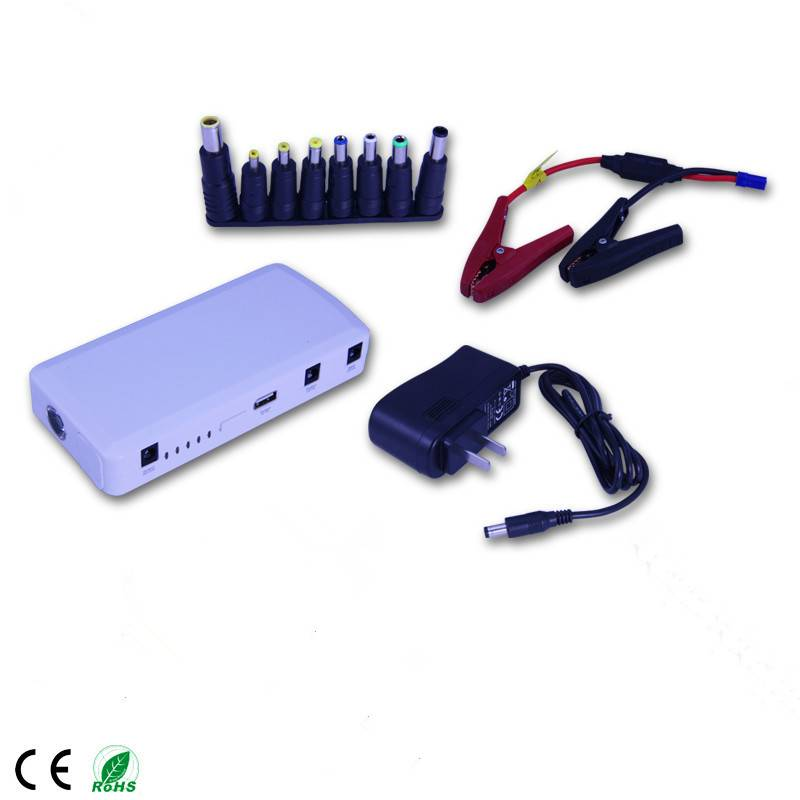 Factory Price 12000mAh Emergency Mini Car Jump Starter power bank multi-function for laptop,mobile p