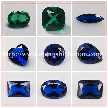 113# sapphire blue color shapes synthetic spinel gemstone price