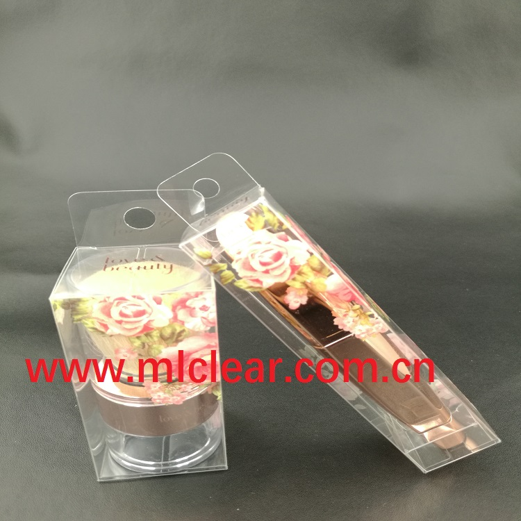 custom lipstick packaging transparent plastic box PVC PET PP