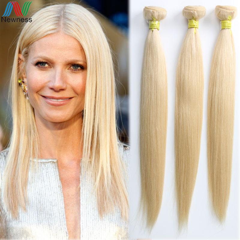 100% unprocessed human virgin hair straight #613 blonde hair extensions brazilian hair peruvian hair