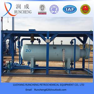 Three Phase horizontal skid mounted gas liquid filter separator