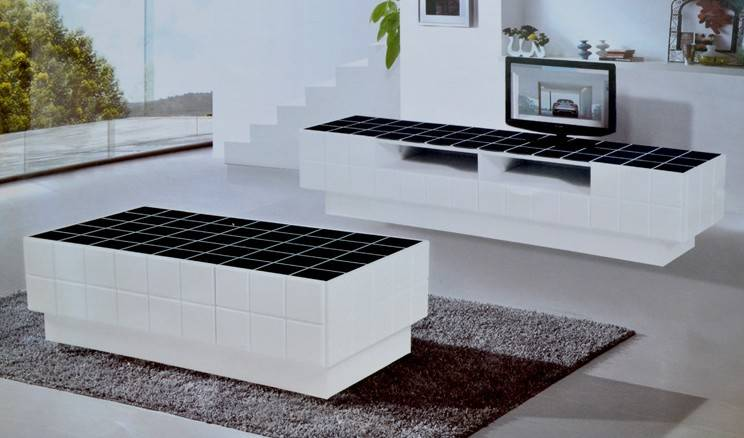 Contemporary and modern tempered glass tv stand