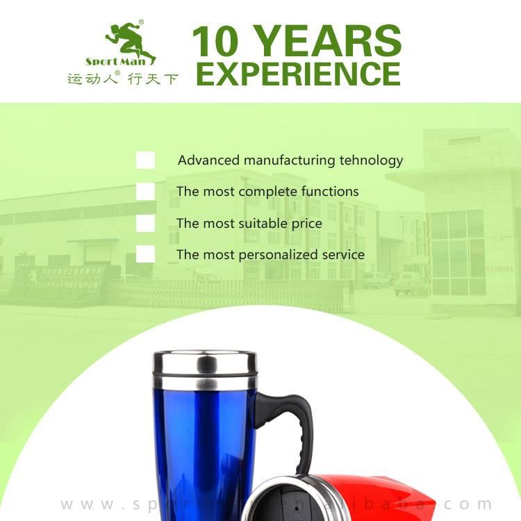High Quality Plastic Thermal Travel mug with handle