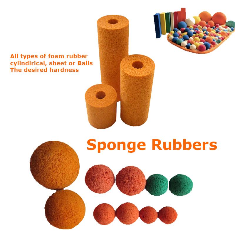High quality cleaning sponge ball Soft/Medium/Hard Concrete Pump Rubber Cleaning Sponge Ball