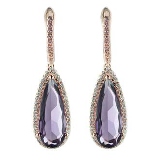 2015 Manli Fashion top Quality Hot selling Natural purple Earrings
