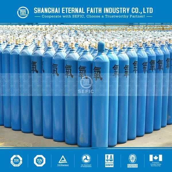 High Pressure Seamless Steel Industrial 40L Oxygen Cylinder
