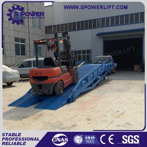 Containere used movable hydraulic loading ramp for sale