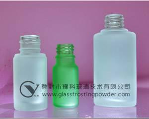 Satin-like effect wine bottles glass frosting powder