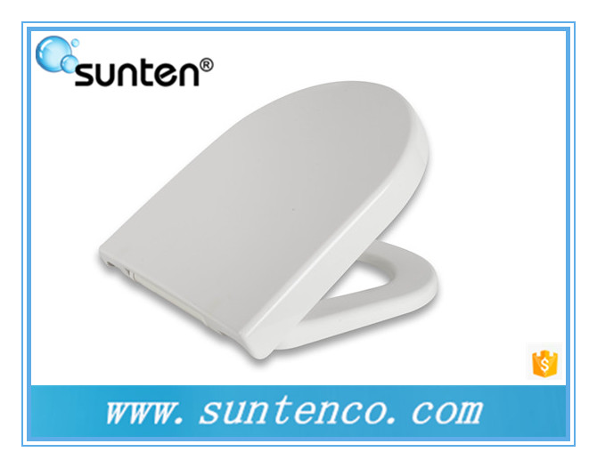 Pure White Closed Front and Soft Close D Shape Toilet Seat Covers