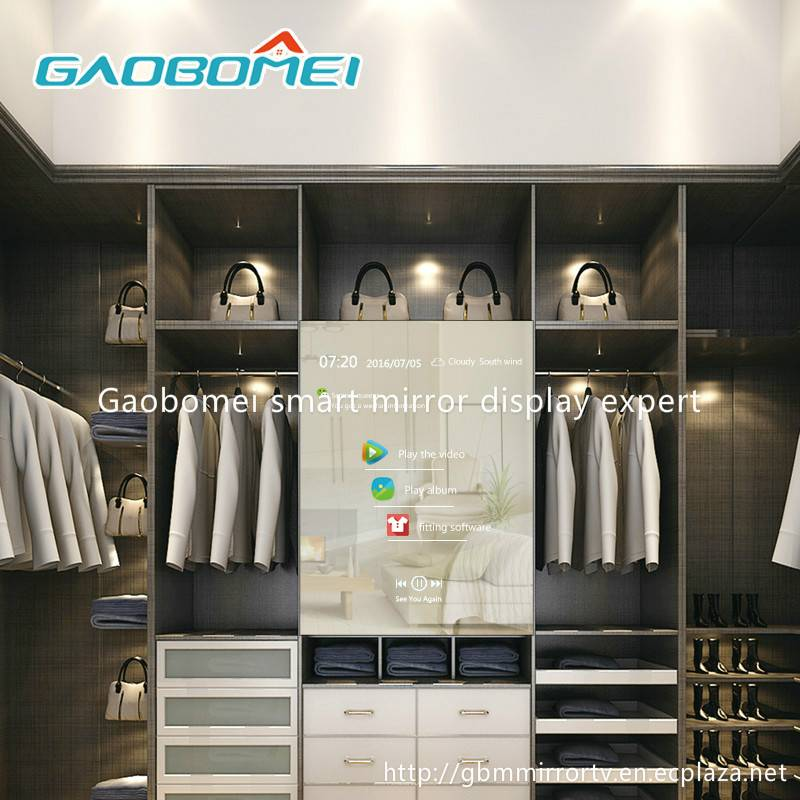 "Gaobomei 42"" AD magic mirror advertising digital signage for clothing market"