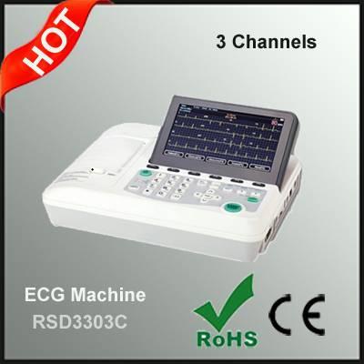 Compact Design 3 Channel ECG Machine Manufacturer