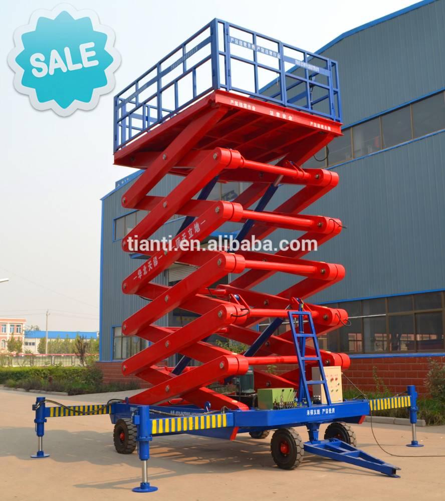 SJPT05-12 four wheel mobile elevating platform