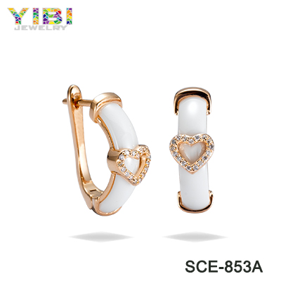 2017 Simple New Design Jewelry Fashion Ear Ring Small Hoop Gold Earring For Women Design For Girl