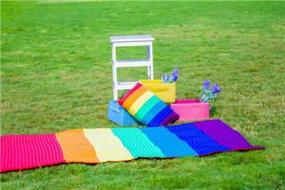Square pillow Meditation blanket plus savsana picnic tool