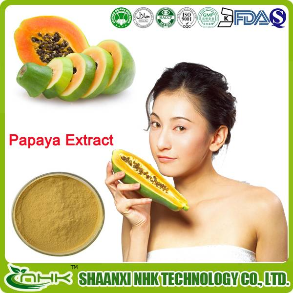 GMP factory supply natural fruit extract high quality carica papaya extract