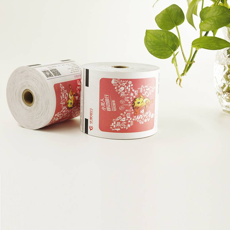 3 1/8 inch width atm thermal paper rolls with black sensor