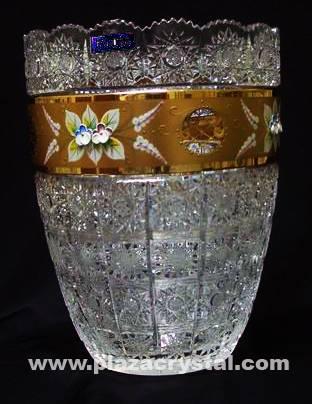 405 Bohemia Crystal Gold PK Vase
