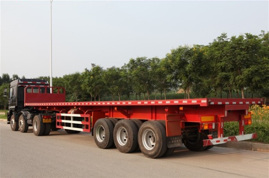 3 Axles Container High Bed Semi Trailer