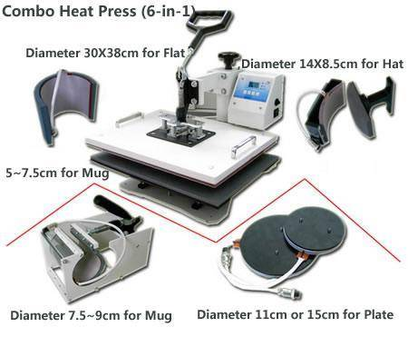 combo heat press machine(printing for different materials)