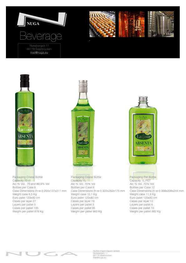 Absinthe - also called the green fairy