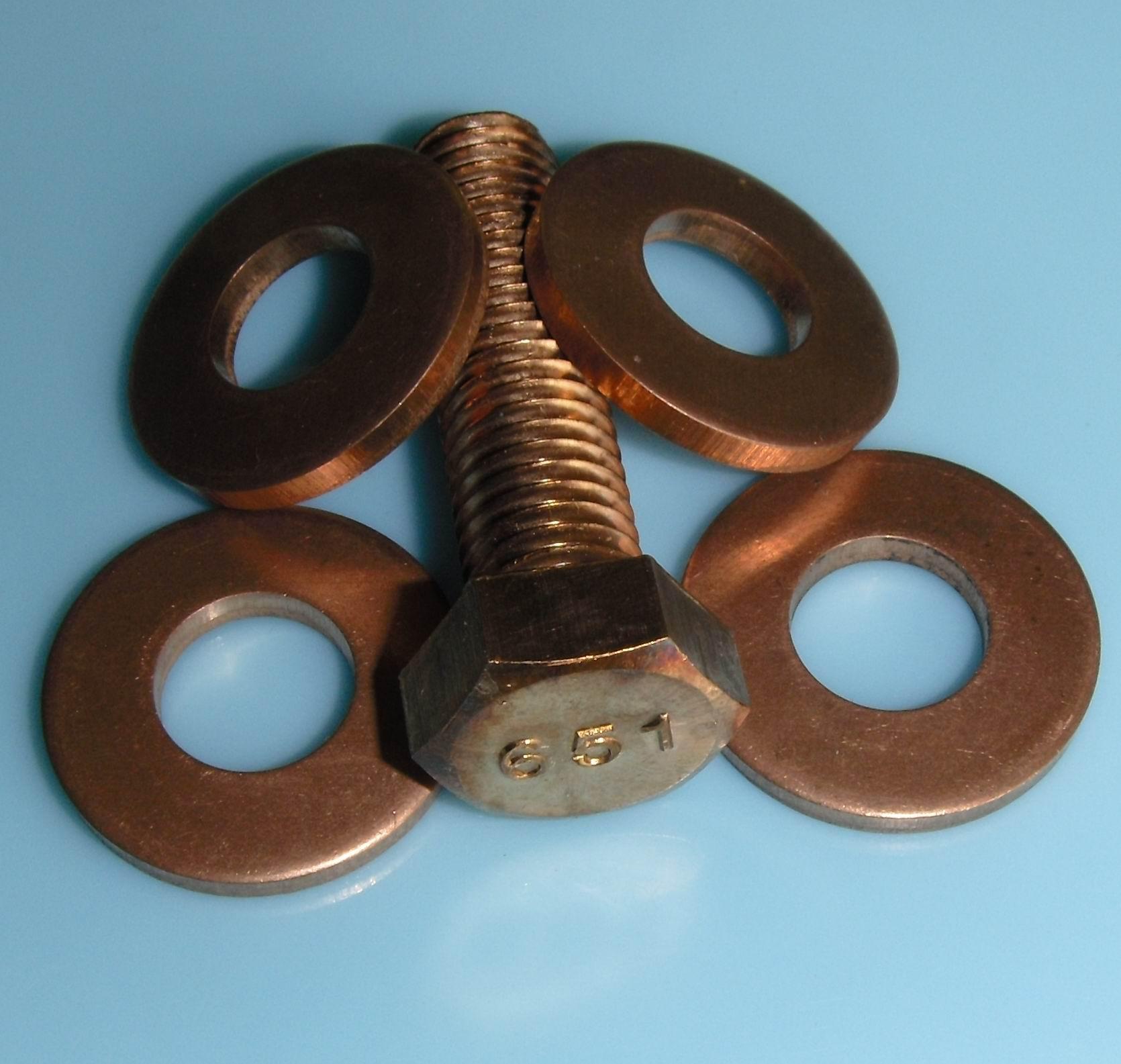 C65100 Silicon bronze belleville lockwashers