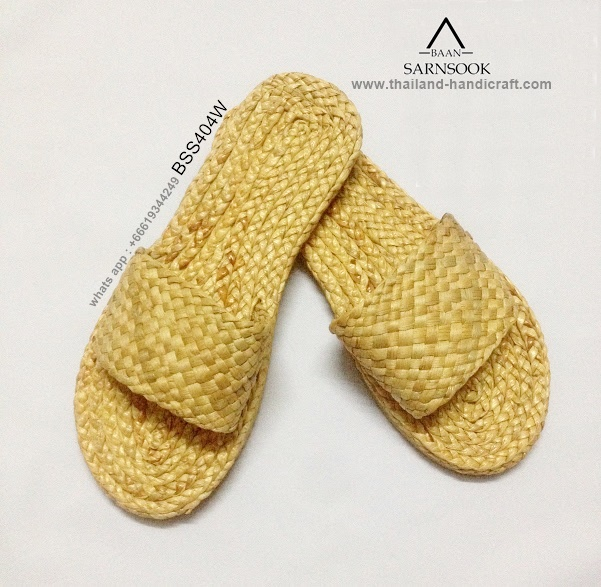 Thailand straw spa slippers woven shoes with water hyacinth