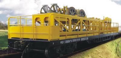 railway engineering work vehicles,Unrolling wagon,Tensile force unrolling wagon