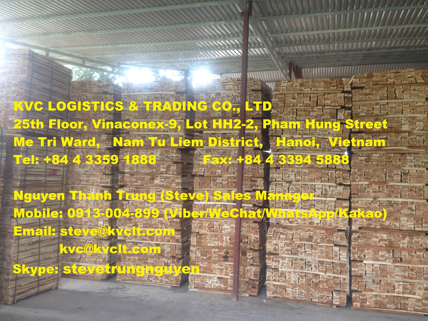 Vietnam Acacia sawn timber for export