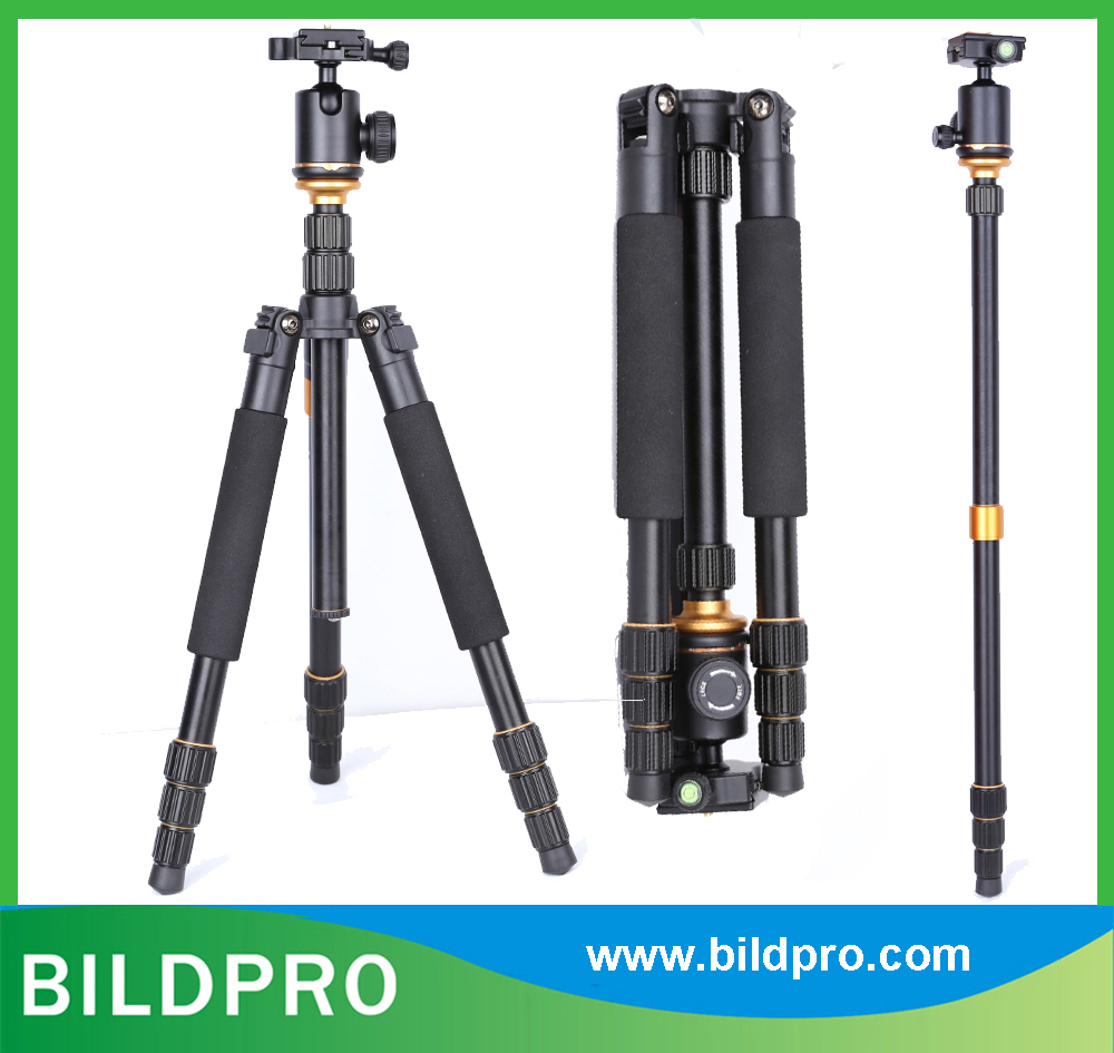 BILDPRO Foldable Extending Aluminum Photo Stand Portable Outdoor Camera Tripod