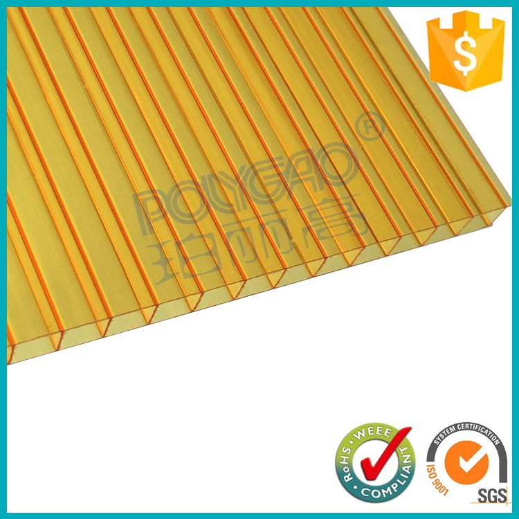 8mm 10mm 12mm twin wall polycarbonate plastic sheet