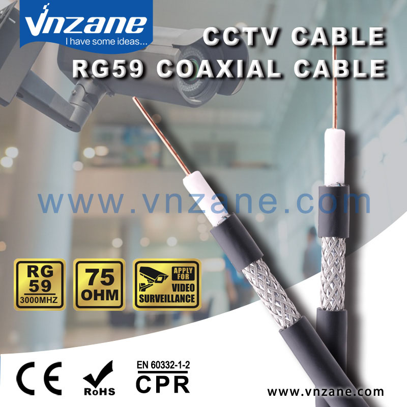 RG59 coax cable for security camera