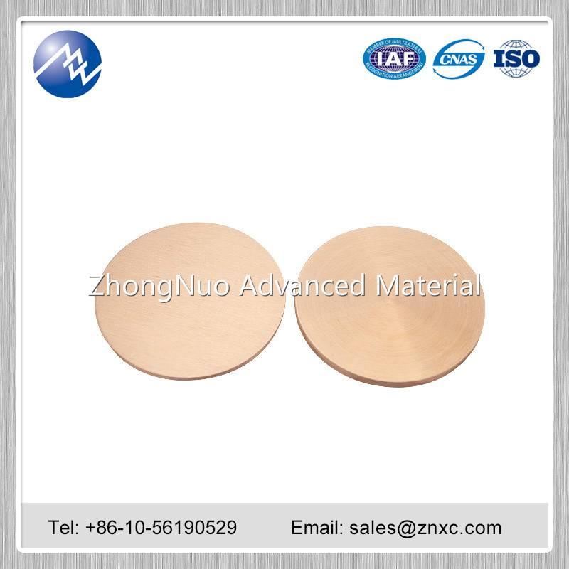 High purity Copper sputtering target 99.9999% 6N Cu target