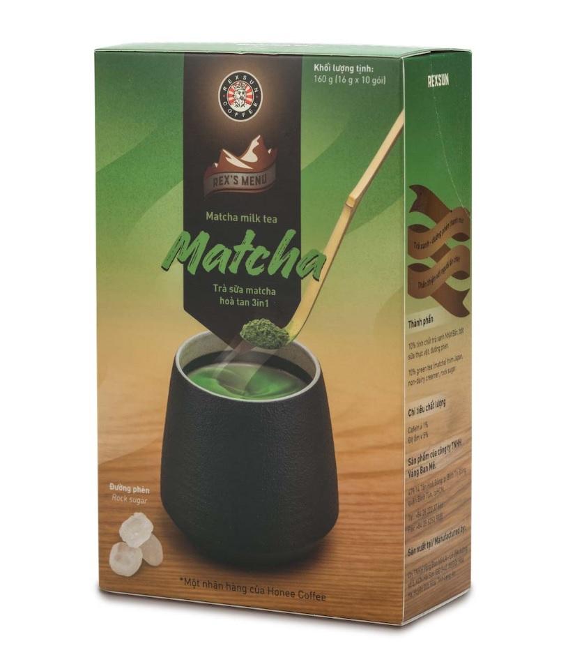 Rexsun - 3 in 1 milk matcha green tea powder