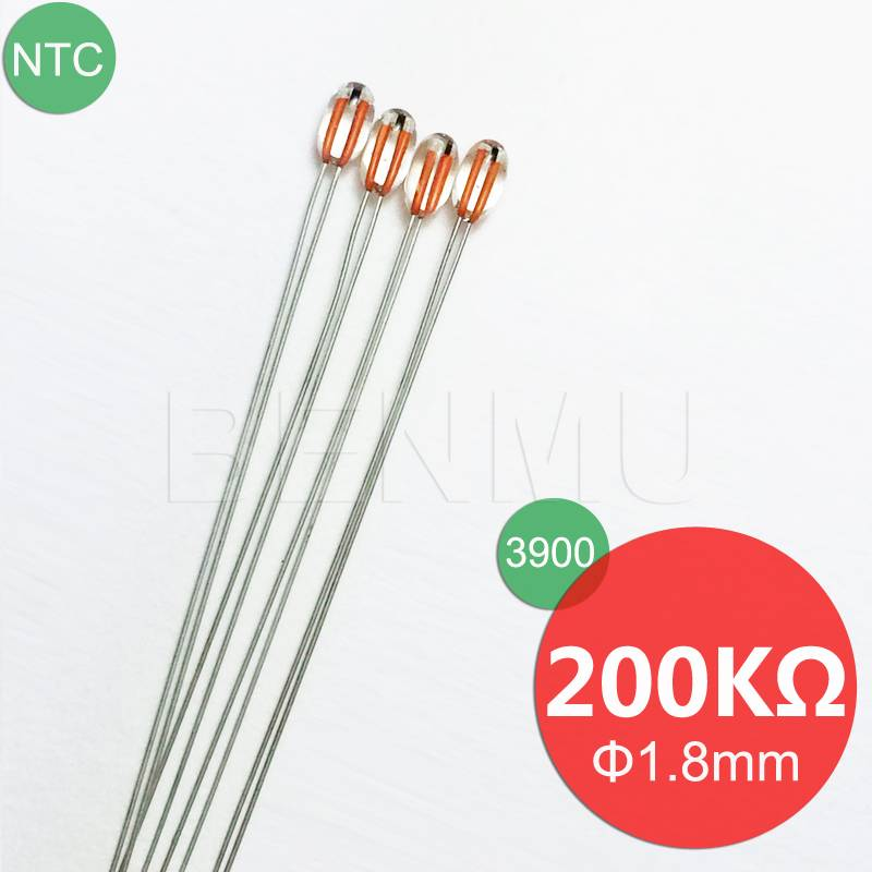 MGB18 200K 1% 3900 NTC Thermistor thermal resistor for high temperature sensors in heater+fax+3D pri