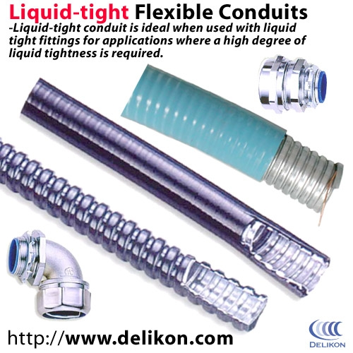 Liquidtight flexible metallic conduit