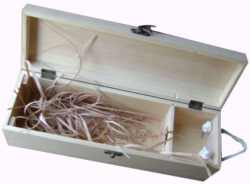 1 bottle wooden wine box with handle