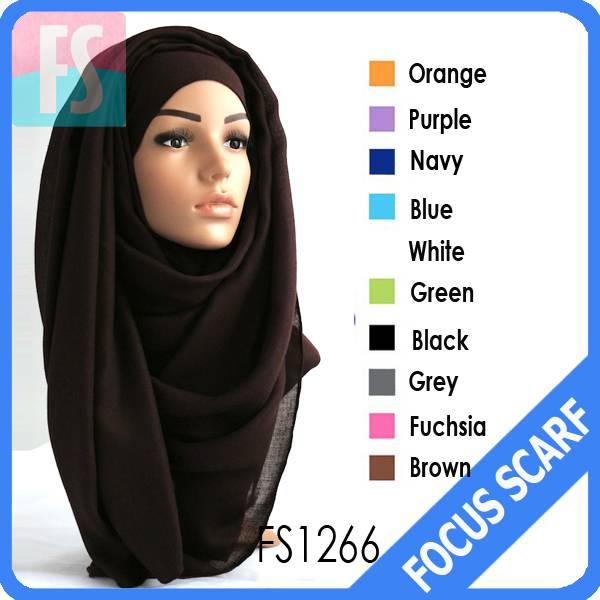 Wholesale plain maxi muslim hijab scarf