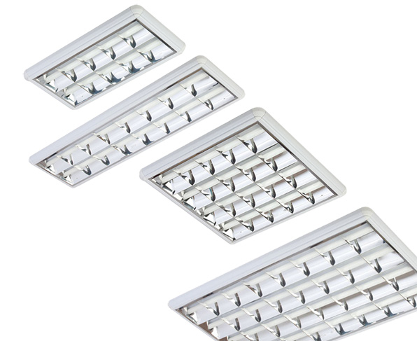Surface Mounted Double Parabolic Lighting Fixtures