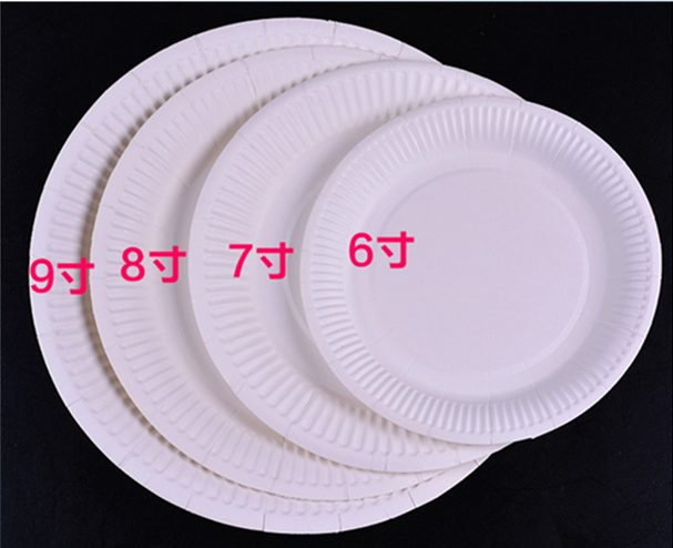 Disposable round paper organic plate