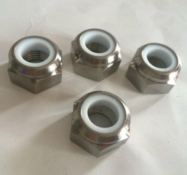 Titanium Alloy Self-Locking Nylon Hexagon Nut - DIN985 6al4V Grade 5