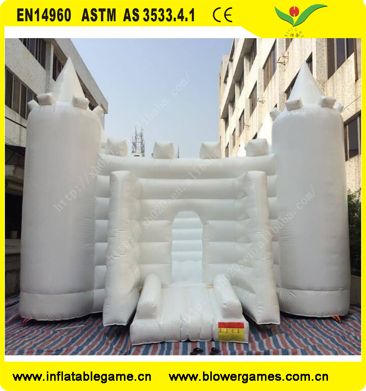 2017 Fashion design white bouncy castle adult jumping house