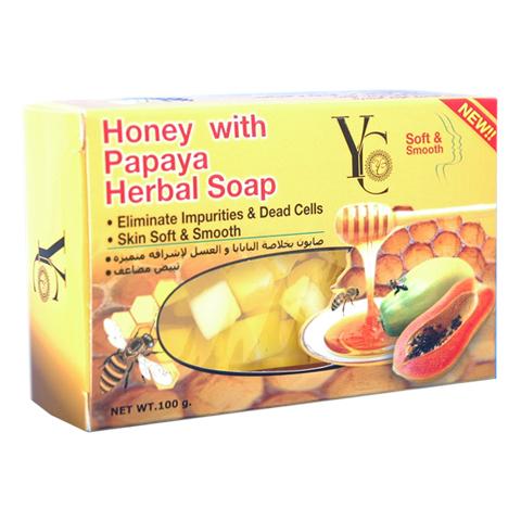Honey With Papaya Herbal Soap
