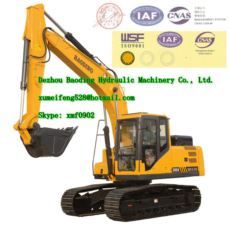Hot sale Baoding BD150 Crawler Excavator for sale